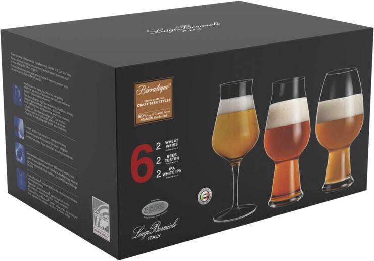 Birrateque ølglas-sæt 6 stk.