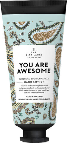 Hand lotion tube -Youareawesome