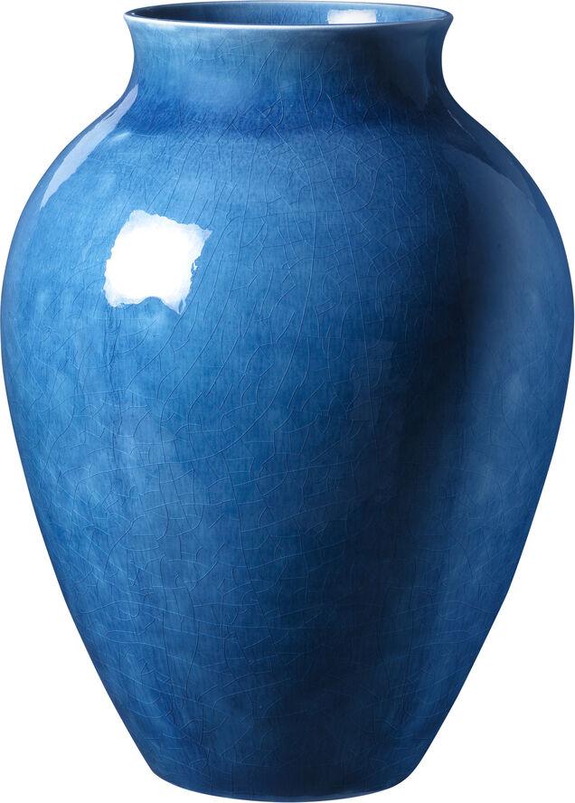 Knabstrup vase, mørk blå, 27 cm