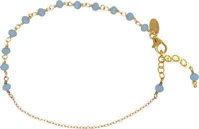 Anne Blue Aqua Chalcadony Bracelet - Gold
