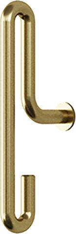 Wall Hook, Matt Gold, Small x2