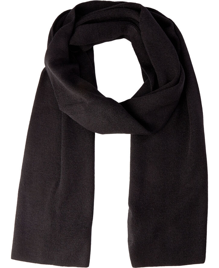 Ancher black Knitted Scarf