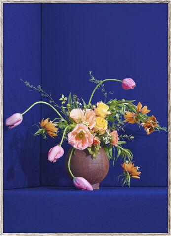 Blomst 01 / Blue - 30x40