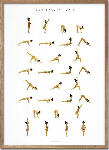 Yoga Prints - Sun Salutation B Women Golden