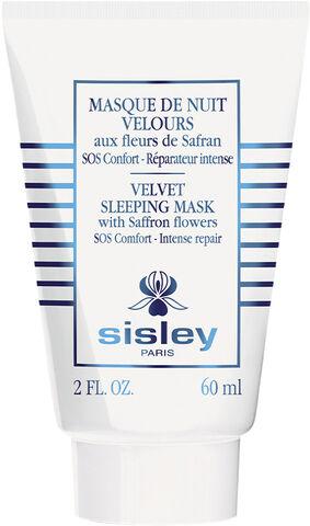 Velvet Sleeping Mask with Saffron Flowers