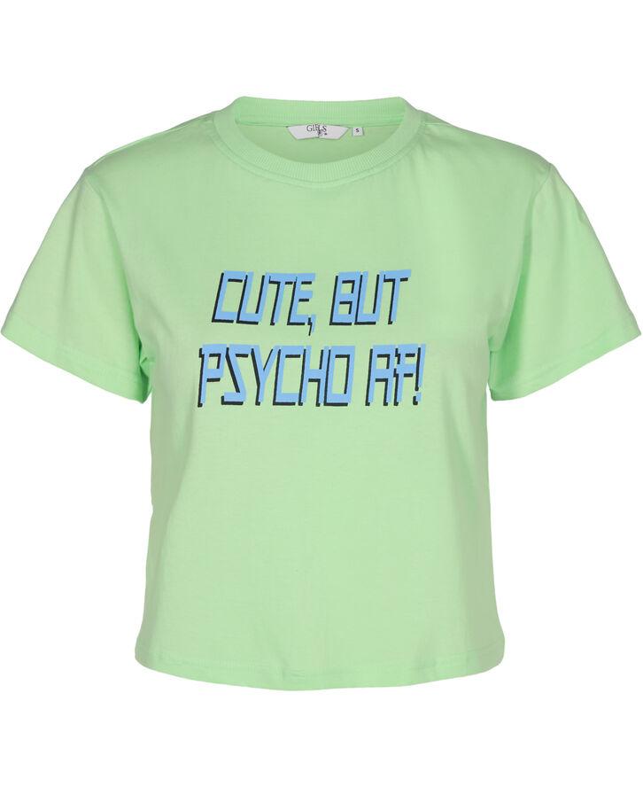 720055 Psycho Crop T-shirt