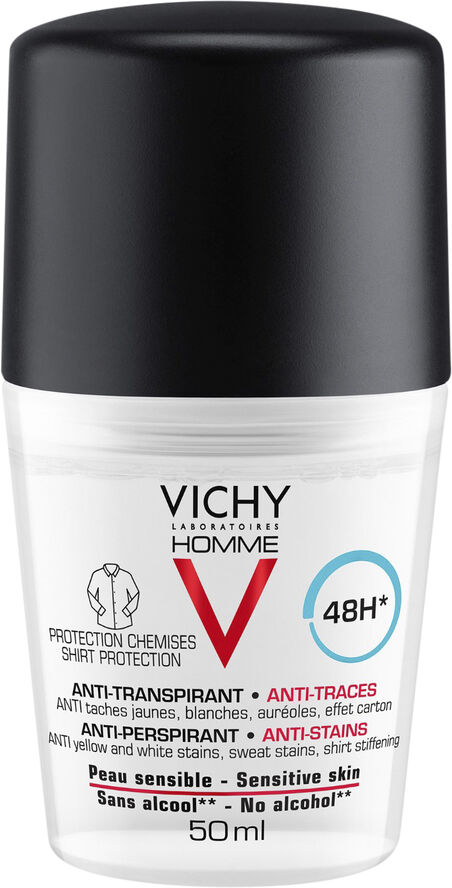 Vichy Homme Deo Shirt protection 48T