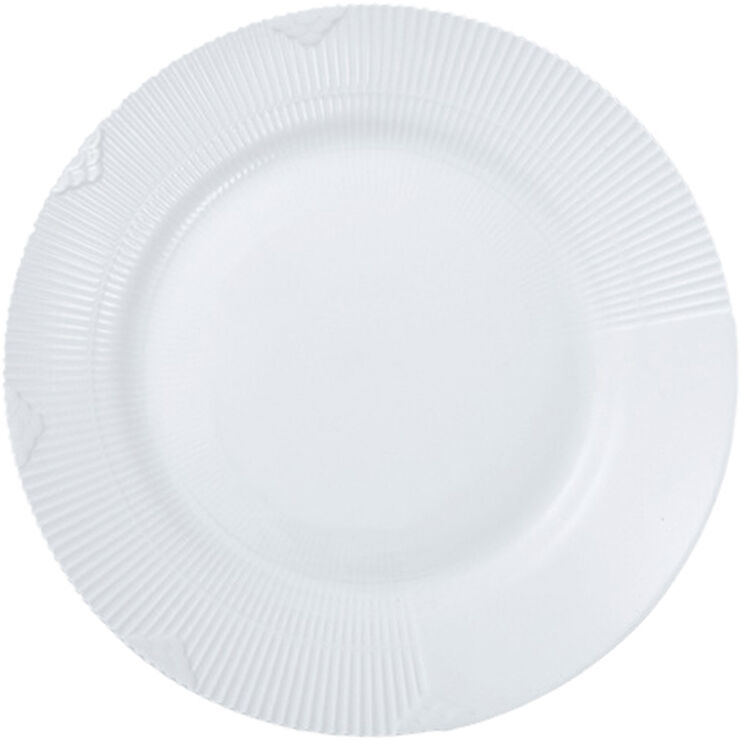 Hvid Elements 28 cm. talllerken