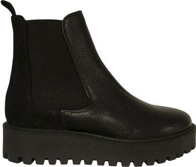 Mina Chelsea Boot - Black Leather