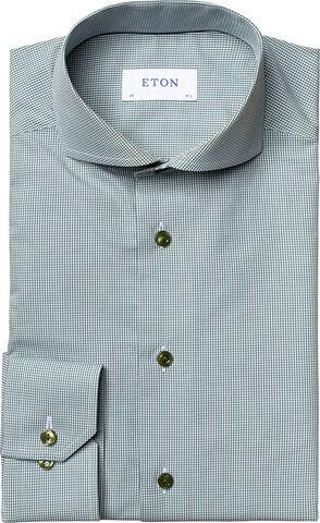 Mini gingham poplin shirt Slim fit