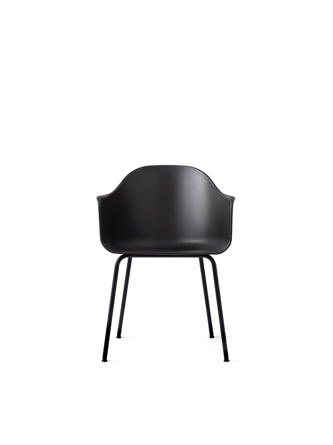 Harbour Chair, Black/Black Steel Base