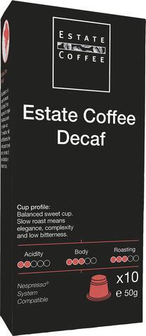 Estate kaffekaapsler, Decaf 10 stk