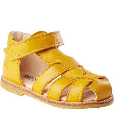 Flad sandal, velcro lukning/ T-rem