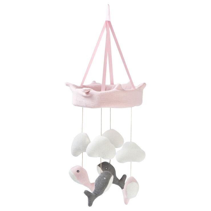Baby Crib mobile Pink