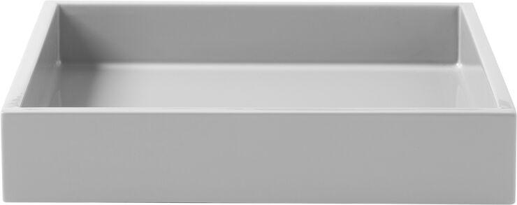 Lak bakke 19*19*3,5 Cool Grey