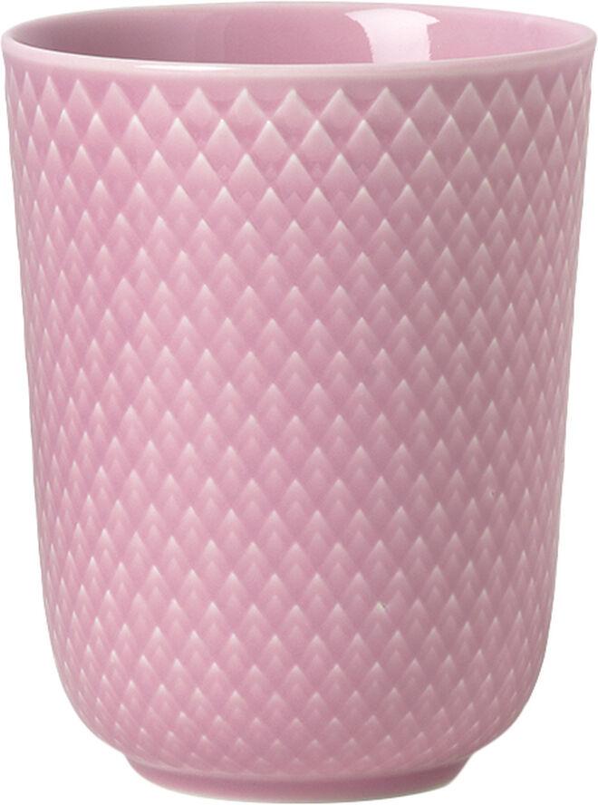 Rhombe Krus 33 cl rosa porcelæn