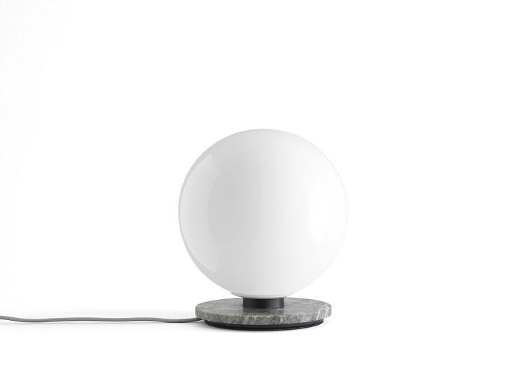TR Bulb, Table Lamp, Grey Marble w. Matt Opal Bulb