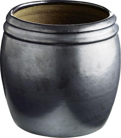 Krukke i keramik, mat,  L-2, phantom