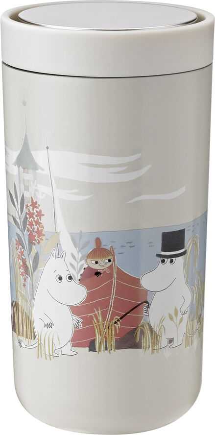 To Go Click d. steel, 0,2 l. - soft sand - Moomin