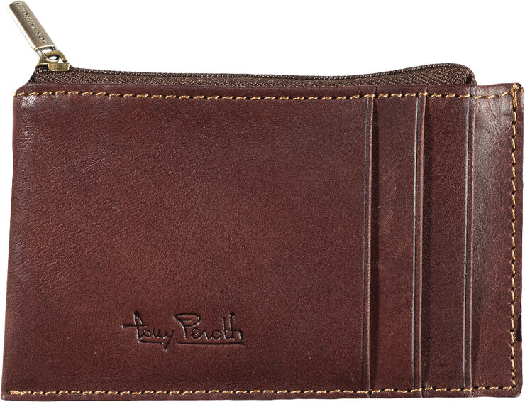 Credit Card wallet with zipper compartment