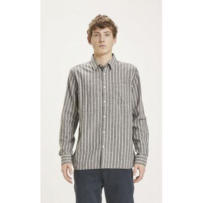 LARCH striped heavy flannel shirt - GOTS/Vegan