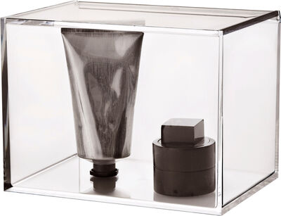 Clear box with lid, tall