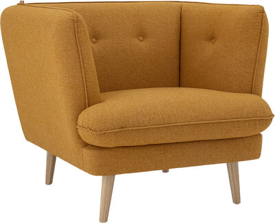 Elliot Lounge Stol, Orange, Polyester