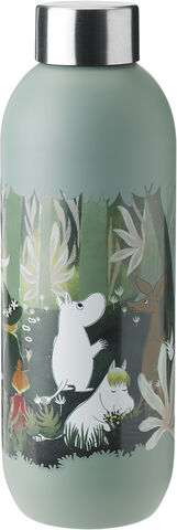 Keep Cool drikkeflaske, 0,75 l. - dusty green - Moomin