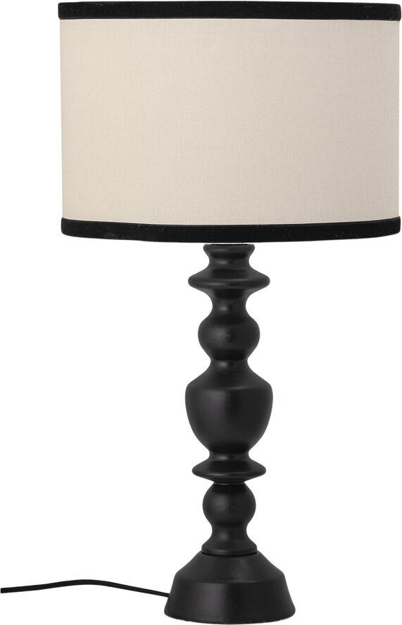 Bordlampe, sort, gummitræ