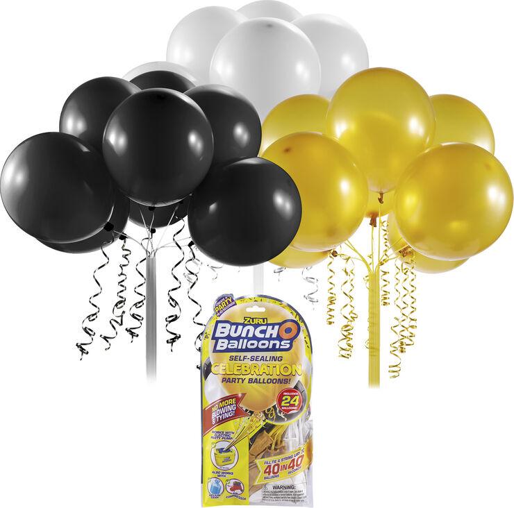 Bunch O Balloons Refill Black, Gold, White 24pcs