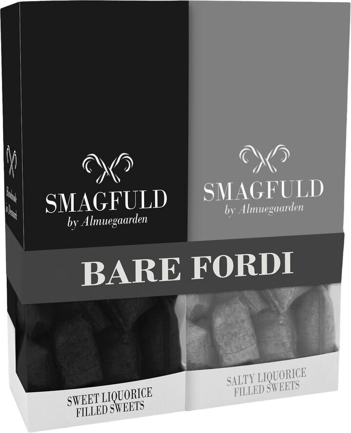 Smagfuld Gavepakning - BARE FORDI sort/grå
