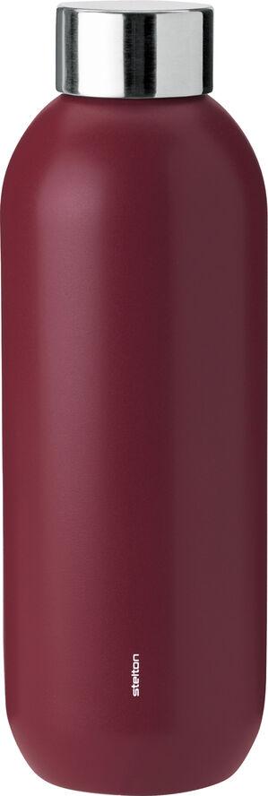 Keep Cool d. steel termoflaske, 0,6 l. - warm maroon