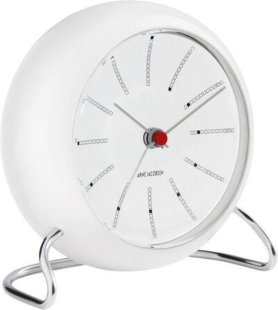 AJ Bankers bordur hvid/hvid, Ø 11 cm, alarm