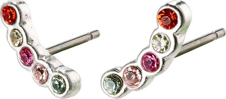 Øreringe, anita, sølvbelagt, multi