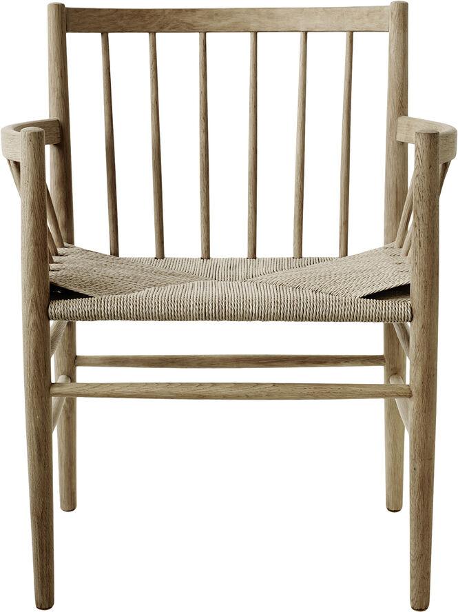 J81 Jørgen Bækmark spisebordsstol med armlæn