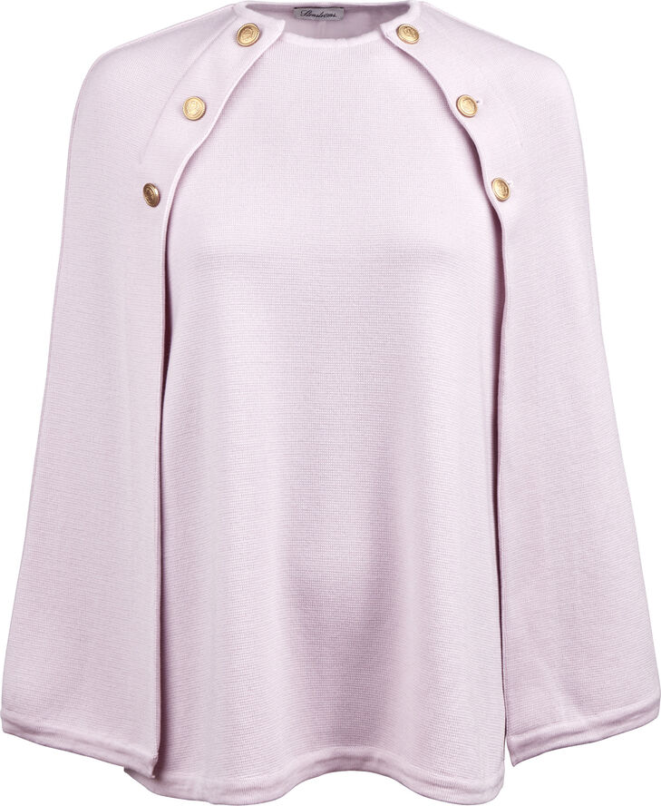 Light Pink Cape in Merino Wool
