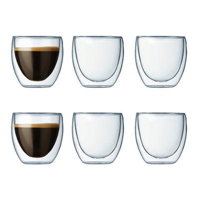 Pavina 6 stk. dobbeltvægget espresso glas, 0.08 l