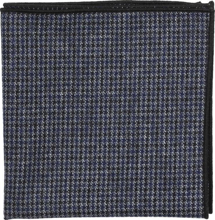 Black Checked Wool Pocket