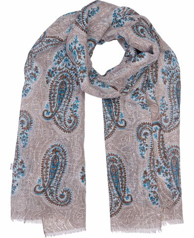 Beige bold paisley scarf