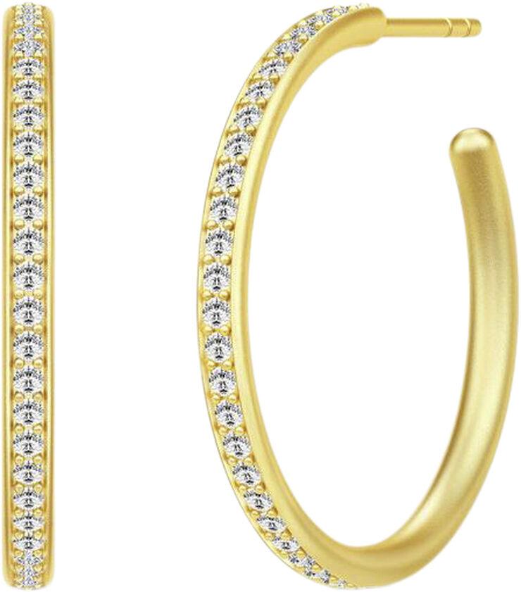 Infinity Medium Hoops - Gold