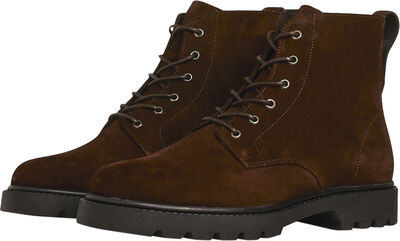 Lace Boot - Dark Brown Suede