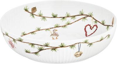 Hammershøi Christmas Skål Ø30 cm hvid m. deko