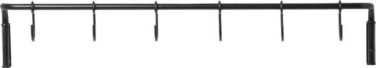 Kitchen Rod incl. 6 hooks - Black