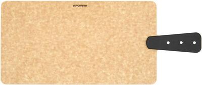 Serveringsbræt natur/sort 35,5x19 cm.