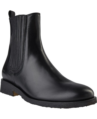 Flad støvle m. elastik
