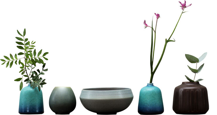 Model no 7 - Small blue vase -