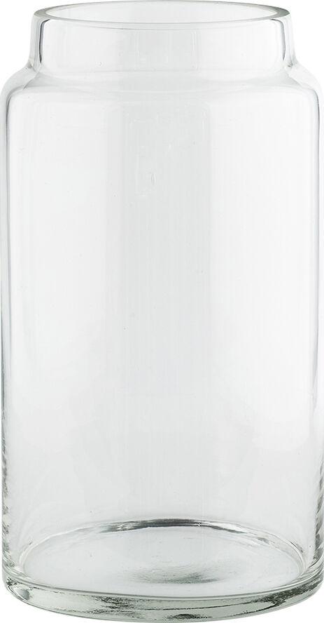 Glas krukke dia 14,5 cm x H 26 cm