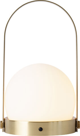 Carrie LED Lamp, Brushed Brass