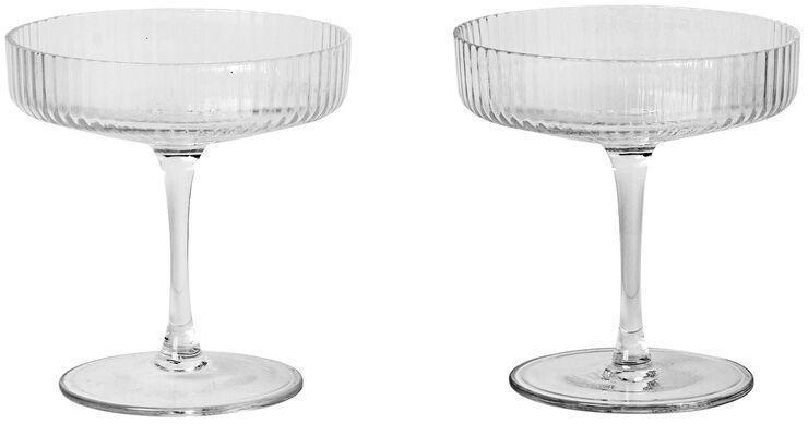 Ripple 2 stk. champagneglas