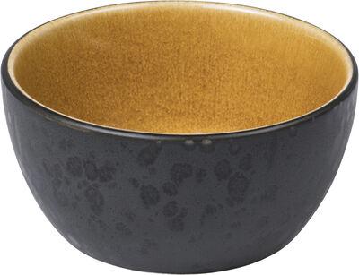 Skål 10 cm sort/amber